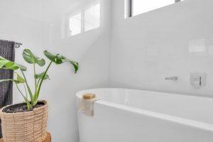 white minimalist bathroom